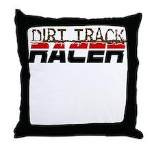 Dirt Track Racer Throw Pillow