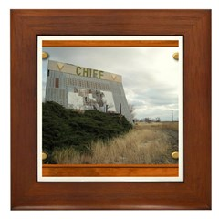 The Chief Drive In Theater Framed Tile