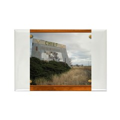 The Chief Drive In Theater Rectangle Magnet