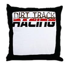 Dirt Track Racing Throw Pillow