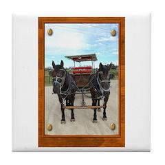 Texas Buggy Tile Coaster