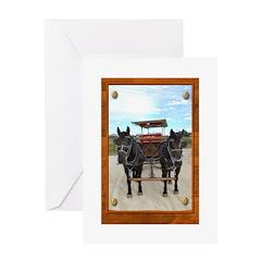 Texas Buggy Greeting Card