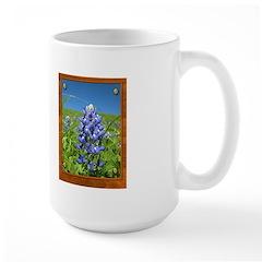 Blue Bonnets Large Mug