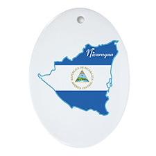 Cool Nicaragua Oval Ornament