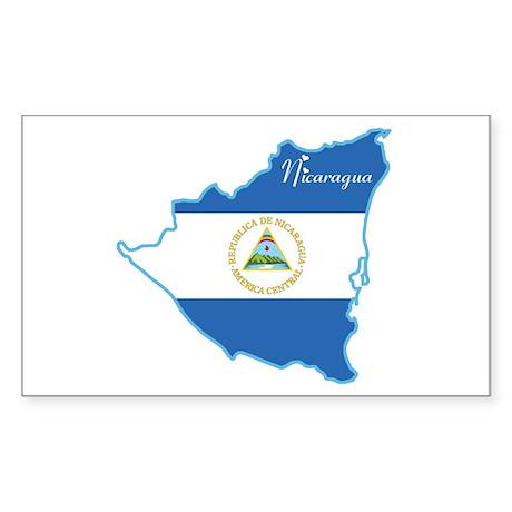 Cool Nicaragua Rectangle Sticker