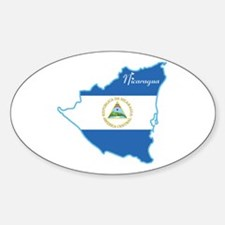 Cool Nicaragua Oval Decal