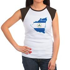 Cool Nicaragua Women's Cap Sleeve T-Shirt