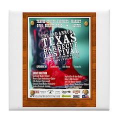 BBQ Festival Tile Coaster