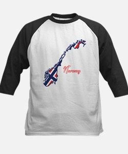 Cool Norway Kids Baseball Jersey