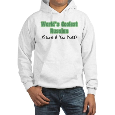 World's Coolest Russian Hooded Sweatshirt