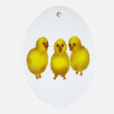 Easter Chicks Oval Ornament
