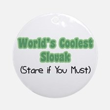 World's Coolest Slovak Ornament (Round)