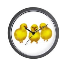 Easter Chicks Wall Clock