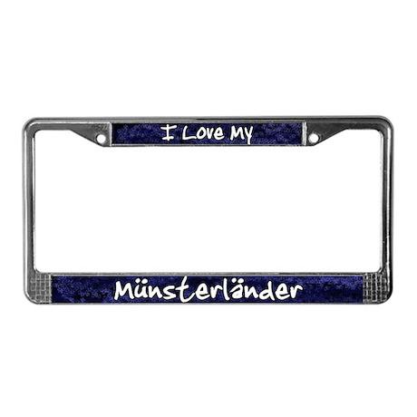 Funky Love Munsterlander License Plate Frame
