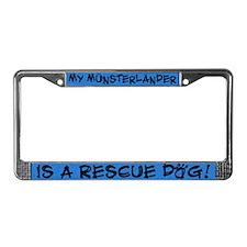 Rescue Dog Munsterlander License Plate Frame