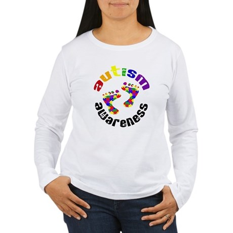Autism Awareness Circle Women's Long Sleeve T-Shir
