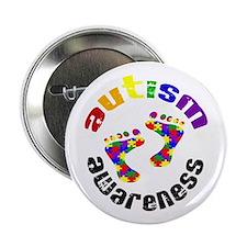 """Autism Awareness Circle 2.25"""" Button"""
