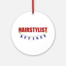 Retired Hairstylist Ornament (Round)