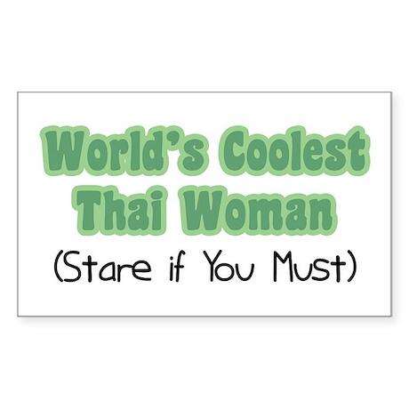 World's Coolest Thai Woman Rectangle Sticker