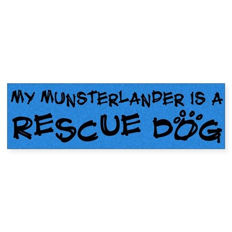 Rescue Dog Munsterlander Bumper Sticker