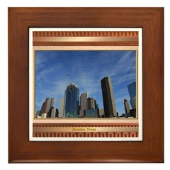Houston Skyline #7 Framed Tile