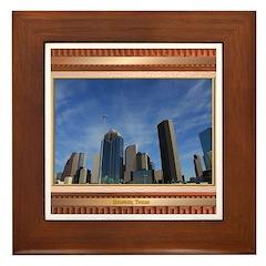 Houston Skyline #7 Framed Tile