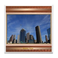 Houston Skyline #7 Tile Coaster