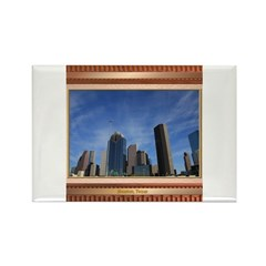 Houston Skyline #7 Rectangle Magnet