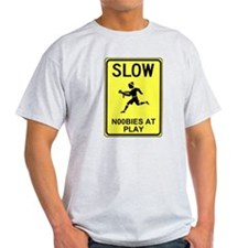 Slow! Noobs At Play! Ash Grey T-Shirt