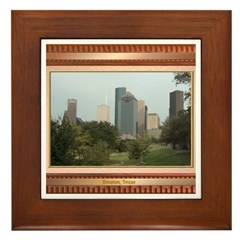Houston Skyline #6 Framed Tile