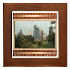 Houston Skyline #6 Framed Tile