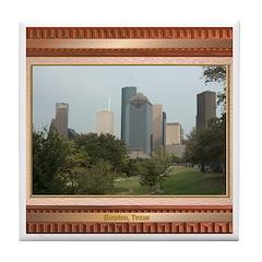 Houston Skyline #6 Tile Coaster