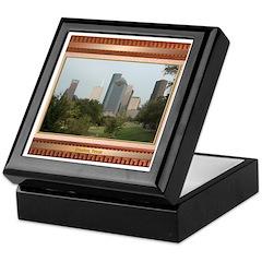 Houston Skyline #6 Keepsake Box