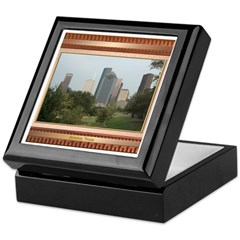 Houston Skyline #6 Keepsake Box