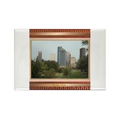 Houston Skyline #6 Rectangle Magnet