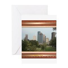 Houston Skyline #6 Greeting Card