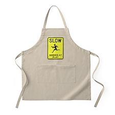 Slow! Noobs At Play! BBQ Apron