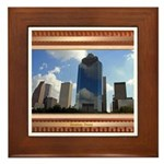 Houston Skyline #5 Framed Tile