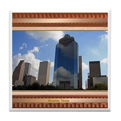 Houston Skyline #5 Tile Coaster