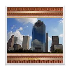 Houston Skyline #5 Tile Coaster