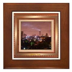 Houston Skyline #4 Framed Tile