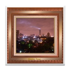 Houston Skyline #4 Tile Coaster