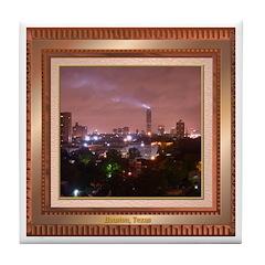 Houston Skyline #4 Tile Coaster