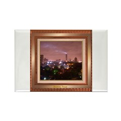 Houston Skyline #4 Rectangle Magnet
