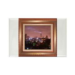 Houston Skyline #4 Rectangle Magnet
