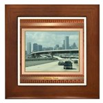 Houston Skyline #3 Framed Tile