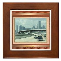 Houston Skyline #3 Framed Tile