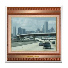 Houston Skyline #3 Tile Coaster