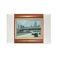 Houston Skyline #3 Rectangle Magnet