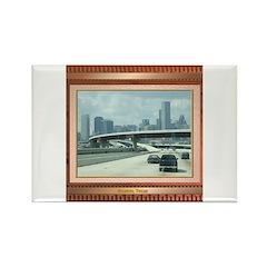 Houston Skyline #3 Rectangle Magnet